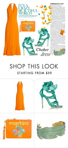 """""""Choker Dress"""" by letiperez-reall ❤ liked on Polyvore featuring Proenza Schouler, Brian Atwood, Moschino, Lucky Brand, polyvoreeditorial, polyvorecontest, polyvorefashion and chokerdress"""