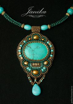 Beaded embroidery jewelry