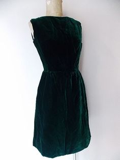 Victor Costa Dress Size Medium Velvet Christmas Party Vintage 50s Holiday Formal #RomanticaVictorCosta