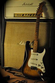 Fender Stratocaster Vintage & Marshall Amp