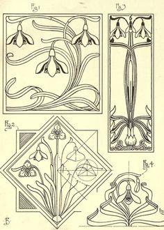 art deco drawings vintage how to draw sketch design art nouveau artist pencil signs 50 free printable doodles Fleurs Art Nouveau, Motifs Art Nouveau, Azulejos Art Nouveau, Design Art Nouveau, Motif Art Deco, Art Nouveau Pattern, Bijoux Art Nouveau, Patsy Stone, Illustration Art Nouveau