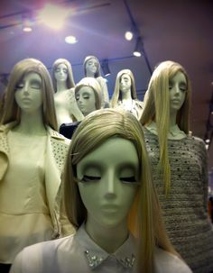 Mannequins in a H store. Orchard road, Singapore.