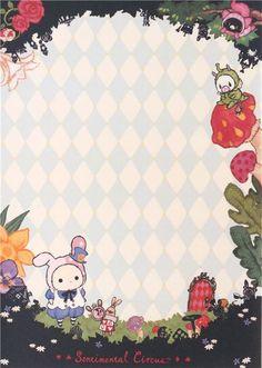light blue cream pattern Sentimental Circus Note Pad - Memo Pads - Stationery - kawaii shop modeS4u