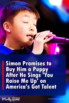 Simon Promises to Buy Him a Puppy After He Sings 'You Raise Me Up' on America's Got Talent America's Got Talent Videos, Britain's Got Talent, Talent Show, Music Lyrics, Music Songs, Music Videos, Old Singers, Country Music Singers, Amazing Songs