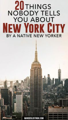 Things to know when traveling to New York for the first time by a native New Yorker. Read local secrets and travel tips for visiting NYC!