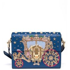 Dolce & Gabbana Carriage Mini Flap Leather Shoulder Bag