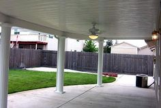ceiling fan and lighting to solid aluminum patio cover patios