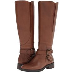 Enzo Angiolini Sporty Women's Zip Boots, Brown ($76) ❤ liked on Polyvore featuring shoes, boots, brown, knee-high boots, knee high platform boots, faux boots, knee high boots, zipper boots and side zip boots