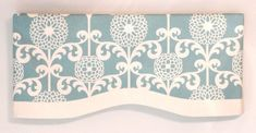 Hey, I found this really awesome Etsy listing at https://www.etsy.com/listing/204654891/window-valance-blue-white-invisible-rod