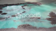 Turquoise blue glacier melt water - Stock Footage   by JahnProductions