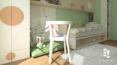 Návrh detskej izby CU-Interiors - Ideas of children room Kids Room, Toddler Bed, Interiors, Children, Furniture, Ideas, Design, Home Decor, Child Bed