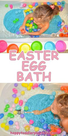Easter Egg Bath – Love that this fun activity promotes motor skills for the littlest ones and can encourage skills such as sorting and color identification for slightly older toddlers.Coupon Michaels Arts And Crafts ProductThis is such an amazing b Easter Activities For Toddlers, Easter Crafts For Kids, Holiday Activities, Infant Activities, Fun Activities, Easter Baskets For Toddlers, Baby Crafts, Easter For Babies, Easter Egg Hunt Ideas