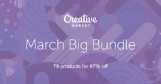 Pick up Creative Market's March Big Bundle. Fonts, Templates, Graphics and More. A $1,512 value... Only $39!