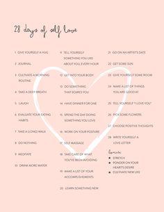 28 Days of Self Love Challenge | {Renaissante.com}