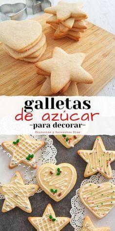 Cake Cookies, Sugar Cookies, Gingerbread Cookies, Christmas Cookies, Delicious Desserts, Dessert Recipes, Yummy Food, Mexican Cookies, Cookie Tutorials