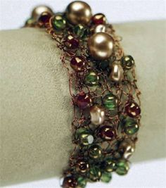 Knitted Wire & Bead Bracelet at Joann.com