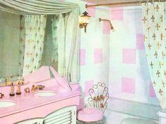 1950s bathroom. #vintage #retro #bathroom #interiordesign