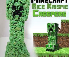 Minecraft Rice Krispie Creepers