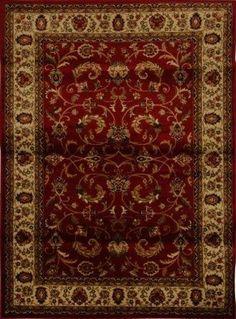Royalty Fancy Scroll Area Rug (Burgundy & Ivory)
