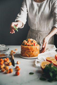 Candied Orange Olive Oil Cake + Cornmeal & Rum – The Kitchen McCabe … kandierter Orangen-Olivenöl-Kuchen … Köstliche Desserts, Delicious Desserts, Dessert Recipes, Yummy Food, Food Deserts, Cupcake Recipes, Healthy Food, Healthy Recipes, Orange Olive Oil Cake
