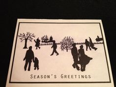Set of 10 HandDrawn Holiday Cards by LyricalNotes on Etsy, $12.00