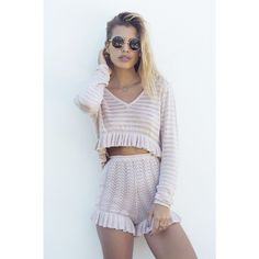 LIMITED EDITION - BABYMILK DUSTY PINK CARDI CROP - Tops - Female HOT!MESS Fashion UK