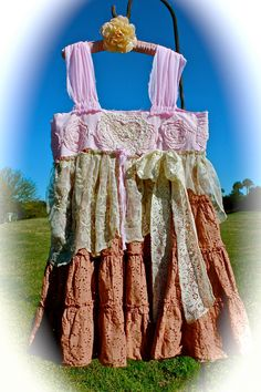 Boho Creole Sugar Dress Neapolitan Pink Strawberry Malt by IzzyRoo