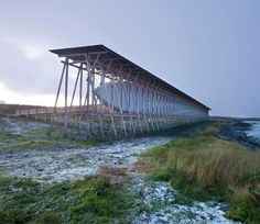 Architect Peter Zumthor designed this memorial on an island in Norway to commemorate suspected witches who were burned at the stake there in the seventeenth century