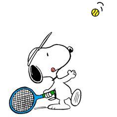 Snoopy at Wimbledon Preparing a Killer Smash