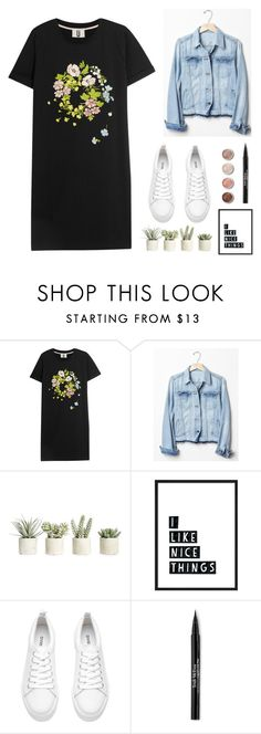 """""""tee shirt"""" by sarahtonins on Polyvore featuring Topshop Unique, Gap, Allstate Floral, Terre Mère and Trish McEvoy"""