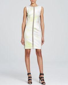 T Tahari Avani Contrast Panel Dress