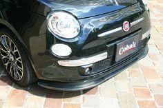 FIAT 500('08-  ) Carbon Lip Spoiler / Cobalt  aero