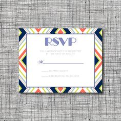 Custom Retro Printable Wedding RSVP card - Printable Retro RSVP card - Printable Wedding RSVP Card - Retro Wedding by 105DesignHouse