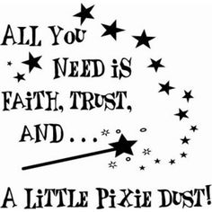 All you need it faith, trust and a little pixie dust! pinned with #Bazaart - www.bazaart.me