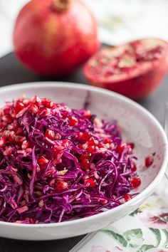 Red Cabbage with Apple and Pomegranate