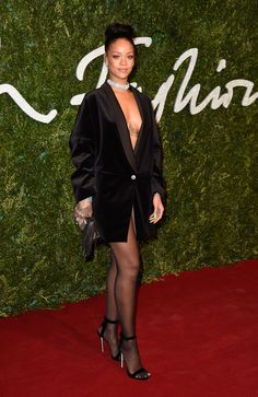 Rihanna's Pantsless Tuxedo Is the Perfect Style Advice for This Party Season