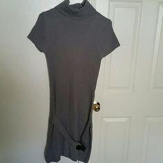 Twisted angel sweater dress Short sleeve,mock belt,(belt is only on front ) never worn, twisted angels Dresses