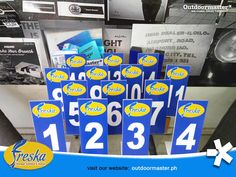 Get a seat while waiting for your sumptuous authentic Ilonggo home cooked dishes to be served by Freska Ilonggo Seafood and Inasal with this stylish table numbers made of sticker on sintra board to coordinate with your orders! Need any marketing collateral for your growing business? Contact us at 0917 703 7830.  #Outdoormaster #WeMakeIdeasHappen #Banners #Signs #Stickers  #BacolodAds #IloIloAds Street Banners, Jeepney, Growing Business, Bacolod, Channel Letters, Business Contact, Tarpaulin, Plastic Sheets, Visual Communication