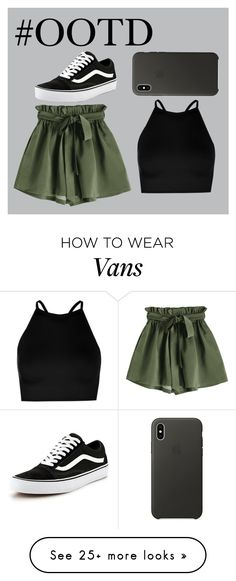 """#OOTD117"" by lilythefangirl on Polyvore featuring Boohoo, Vans and Apple"