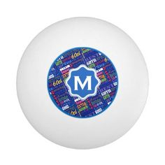 Fun 60th Birthday Party Personalized Monogram Ping-Pong Ball - typography gifts unique custom diy