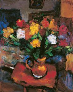 Czóbel Béla, Still Life with Flowers, 1929 - Oil on Canvas, 90 × 72 cm