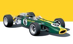 Vintage Race Car Posters: Timeless, Beautiful – Sport is lifre Classic Race Cars, Best Classic Cars, Auto Illustration, F1 Lotus, Lotus Car, Car Prints, Automobile, Car Posters, Vintage Race Car