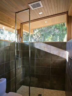 Eichler Mid Century Modern Glass Shower Design, Pictures, Remodel, Decor and Ideas - page 2