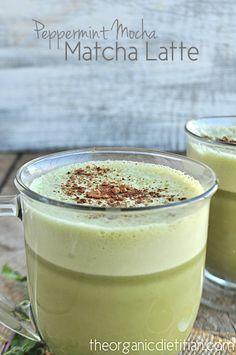 The Peppermint Mocha Matcha Latte is Here - The Organic Dietitian, vegan, dairy free, paleo, Matcha is super high in antioxidants