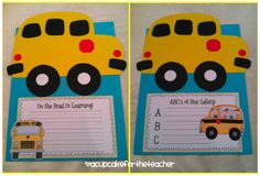 Bus Safety Craft A Cupcake for the Teacher: Back to School Bus Craftivity {and a Safety Lesson, Too! Beginning Of The School Year, New School Year, School Fun, School Stuff, Classroom Crafts, Classroom Fun, Kindergarten Activities, Classroom Activities, School Bus Safety