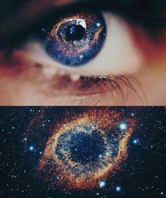 She held the galaxy in her eyes.