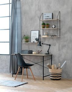 Skrivebord RAVNKILDE eik/svart | JYSK