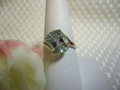 Oval Cut Green Amethyst Ring
