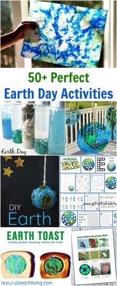 The Ultimate Earth Day Theme Preschool Activities, 50+ Earth Day Activities for Kids, Spring Preschool theme, Earth Day Crafts, Art, Sensory & Science #earthdayactivties