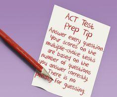 ACT Test Prep Tip: Answer every question. Your scores on the multiple-choice tests are based on the number of questions you answer correctly. There is no penalty for guessing! Scholarships For College Students, Grants For College, Financial Aid For College, College Planning, College Life, Sat Test Prep, Act Prep, Act Practice Test, Guided Practice